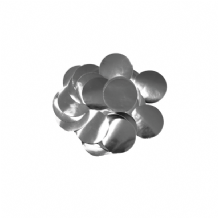 Metallic Silver Foil Confetti | 10mm Metallic Round | 50g Bag